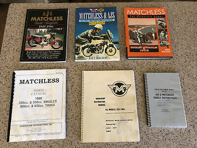 AJS AND MATCHLESS motorcycle book and parts catalog collection