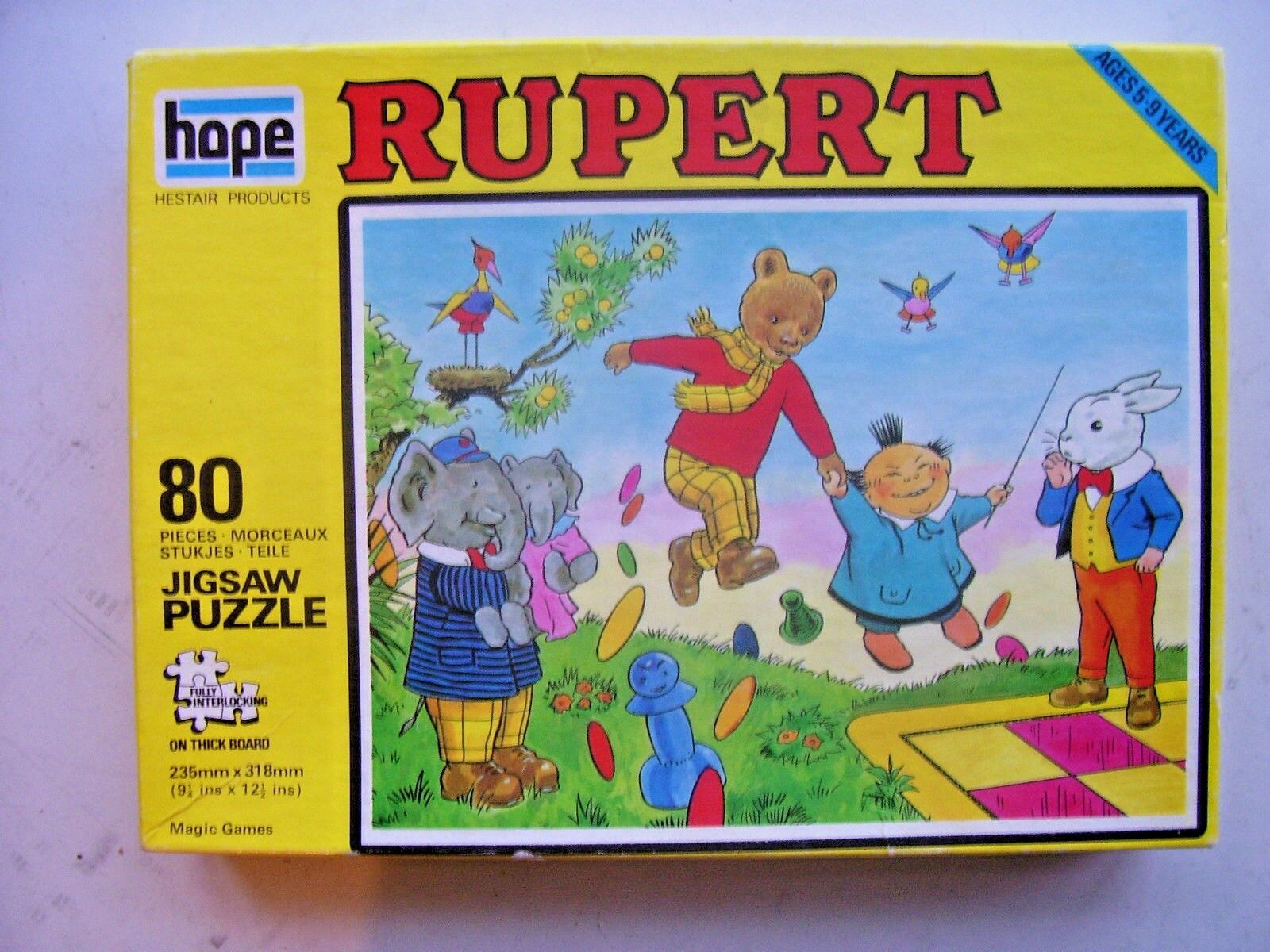 Vintage Rupert 80 Piece Jigsaw by Hope (1973) Magic Games