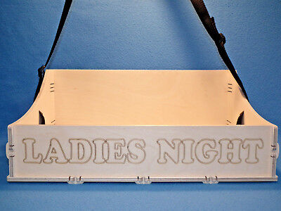 JGA Holz Bauchladen mit Beschriftung Ladies Night Junggesellenabschied Hochzeit