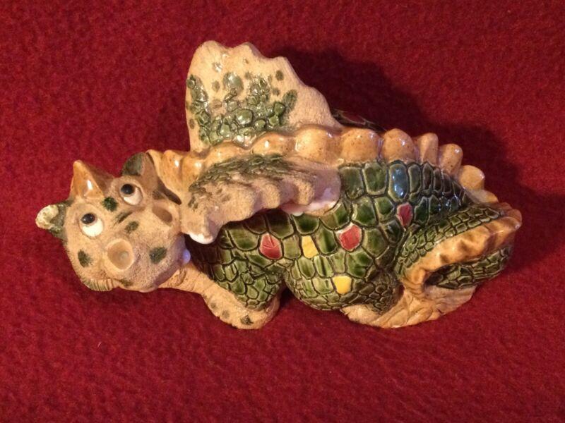 """Vintage Clay Dragon figurine approx. 5.25"""" x 3"""" *please read description"""