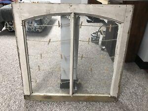 Antique wooden window picture frame