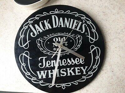 Glass Jack Daniels Clock