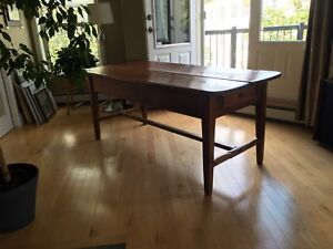 ANTIQUE PINE HARVEST TABLE 1800's