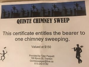 Chimney sweeping gift certificate