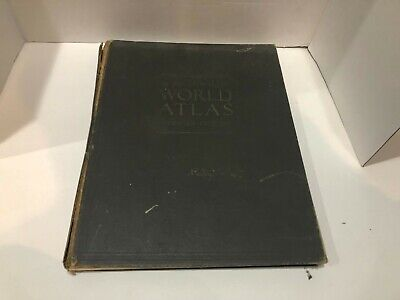 VINTAGE 1935 RAND-MCNALLY WORLD ATLAS HARDCOVER PREMIER EDITION FREE SHIPPING