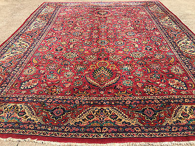 10x13 HAND KNOTTED PERSIAN IRAN AREA RUG WOVEN WOOL MADE ORIENTAL RUGS 10 x 14 9