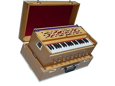 Harmonium 7 Stopper Double Bellow 39 Key 440Hz Long Sustain Sound Laying Style
