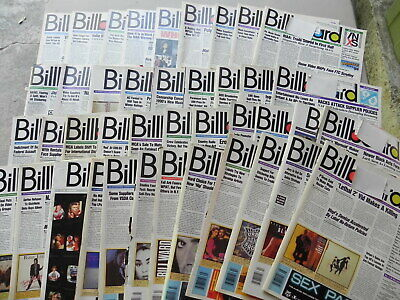 1990  BILLBOARD Magazine Lot of 41 Weeks you get 41 Magazines all have label