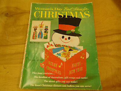 Vintage 1964 Woman's Day Best Ideas for Christmas Magazine Crafts Cooking