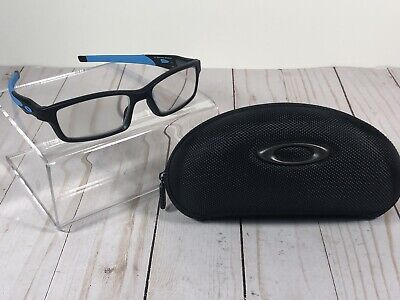 Oakley Crosslink OX8027-0153 Satin Black Eyeglasses 53/17 140 Blue&Gray Temples