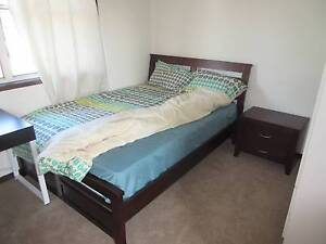 Beautiful double bed with mattress and one bedside table Pennant Hills Hornsby Area Preview