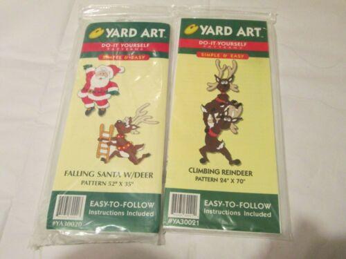 Yard Art Do-It-Yourself Christmas Falling Santa Deer Climbing Reindeer Patterns