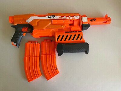 NERF N-Strike Elite Demolisher 2 in 1 Blaster Automatic Fire + 2 - 10 Round Clip