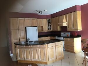 Cupboards Solid Maple and Granite Counter