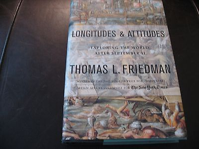 LONGITUDES & ATTITUDES by THOMAS FRIEDMAN * SIGNED HC & DJ * BRAND NEW, UNREAD *