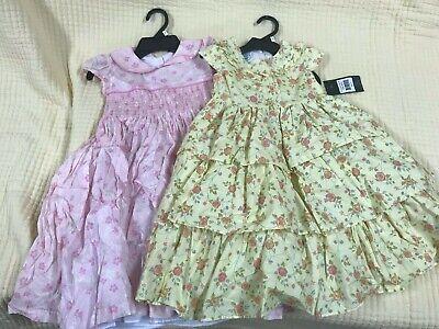 Laura Ashley Girls Spring/Summer/Easter Lined Cotton Floral Dress 2t,3t,4t,5,6, - Spring Dresses Girls