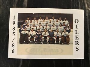 SOLD - 1985-86 AHL Nova Scotia Oilers Hockey Card Set