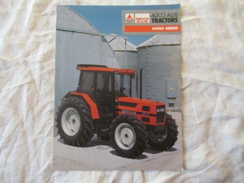 AGCO Deutz Fiat Allis 6600 series tractor brochure