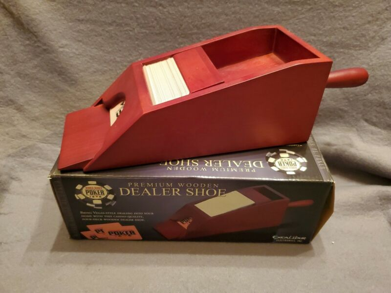 Premium Wooden Dealer Shoe by Excalibur - World Series Poker