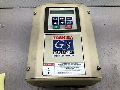 Used Toshiba G3 Tosvert-130 5 Hp 5.5 Kva 230 Vac 3 Ph .1-80400 Hz Transistor Dr