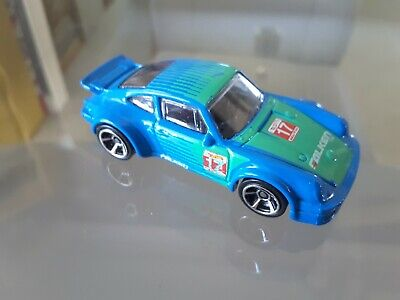 2016 Hot Wheels Porsche 934 Turbo RSR Blue/Green Falken Tyre Deco Loose Mint