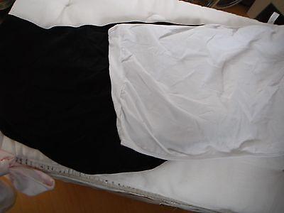 maternity tops 1 white 1 black size m-l next