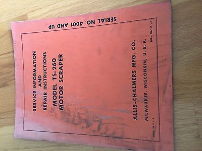 Allis Chalmers Allis-chalmers Scraper Ts 260 Motor Repair Manual