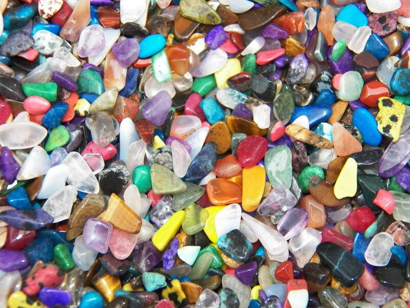 2000 Carat Lots of Size #1 Tumbled Polished Gemstones - (~3000 SMALL GEMSTONES)