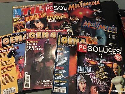 Magazines - Lot de 8 - GEN 4 - Multimédia - PC Soluce... Jeux vidéos - GK1
