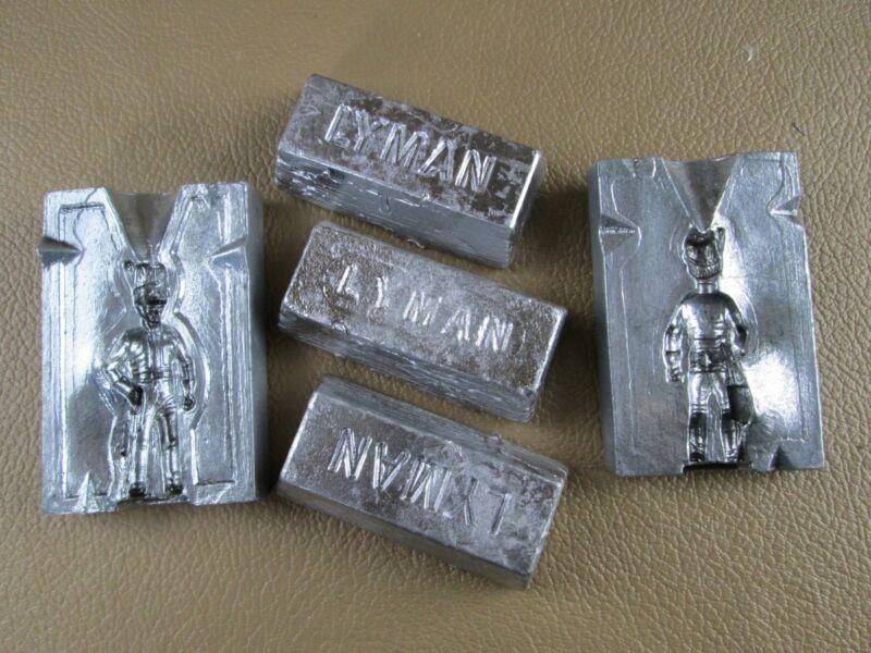 Vintage Lead Revolutionary/ Napoleonic Soldier Mold #116 w/3 ingots Hi-Tin casti