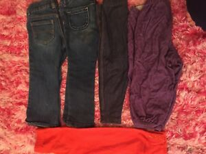 Clothing for girls size 2T, jeans and bottoms