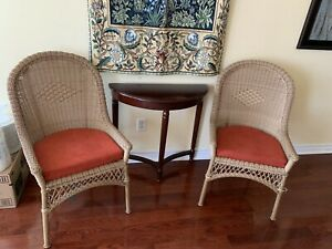 Pier 1 import wicker accent chairs