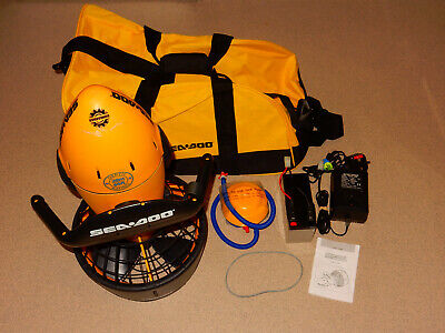 SEADOO BOMBARDIER SCUBA DIVING SEA SCOOTER + Battery+Charger+Carry Bag+Pump VGC!