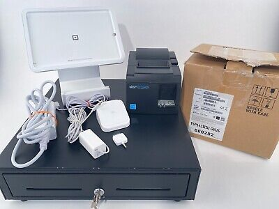 Square Pos System W Ipad Stand Cash Drawer Printer Bundle 2 - Tested Works