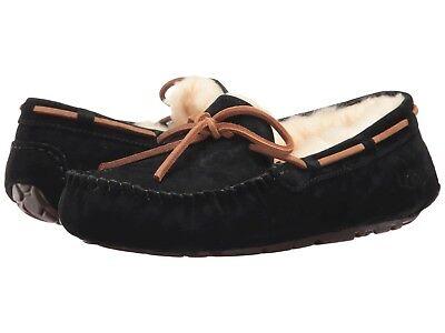 Women's Shoes UGG Dakota Moccasin Slippers 5612 Black 5 6 7 8 9 10 *New*