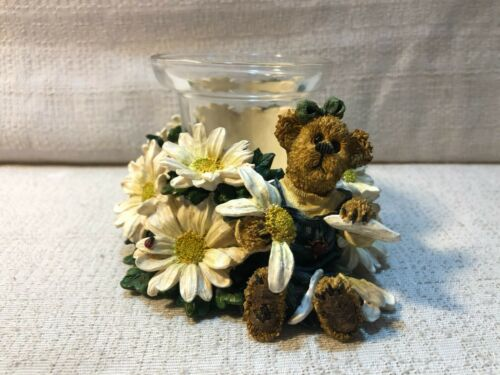 Boyds Bear Miss Daisy He Loves Me Votive Candle Holder Figurine 27760