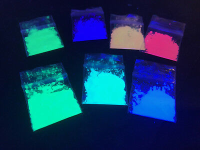 NEW  BLACK LIGHT ACTIVATED PIGMENT NEON various color (Neon Blacklight Paint)