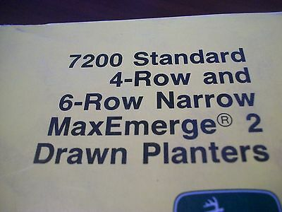 John Deere Operators Manual 7200 Std 4row6row Narrow Maxemerge 2 Drawn Planter