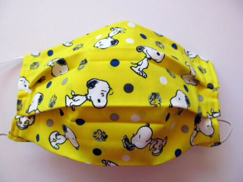 SNOOPY Woodstock Face Mask w/Filter Pocket Washable Reusable Cotton Fabric