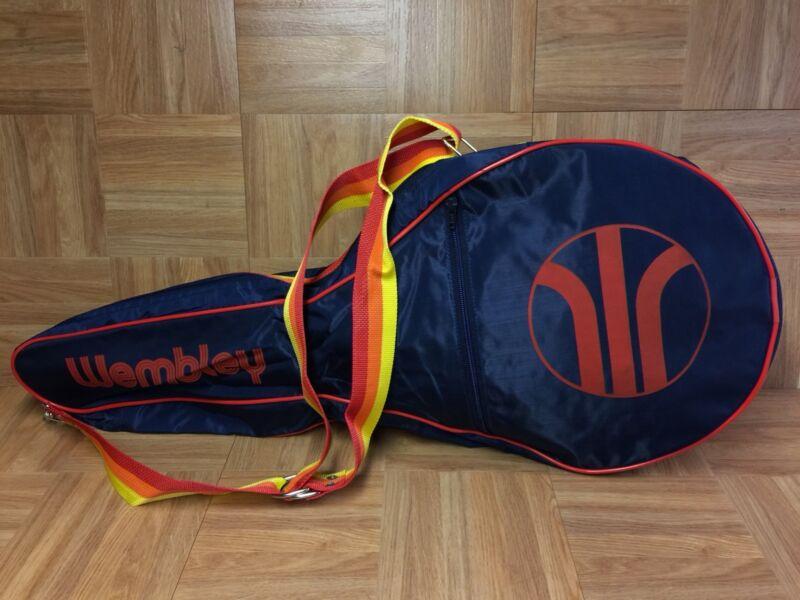 VNTG🔥 Wembley Vintage Tennis Racket Cover Sunrise Yellow Orange Blue Navy Case