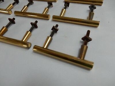 BOX  / Sliding Door Handles 1950s era Brass  vintage SOLID 7 x2.5 cm  lot of 16
