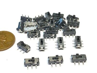 25 Piece Mss22d18 6 Pin Slide Switch Slide Switches Pcb Tactile Pcb Smd C54
