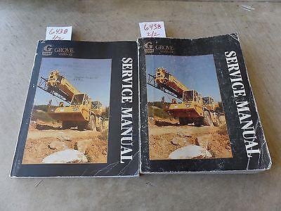 Grove Rt500c Crane Maintenance And Service Repair Manual Set March 1987 Vol 12