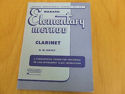 Elementary Method Clarinet N.W. Hovey Rubank Nr. 34