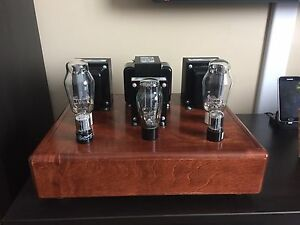 Handcrafted Vacuum tube 2Ch Class A amplifier 300B+6SN7+5U4G.