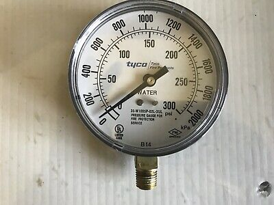 Tyco Fire Products 3.5 Water Gauge For Sprinkler System 300psi