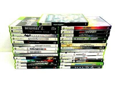 Xbox 360 Video Game Lot Complete Game Case Manual You Pick What You Want