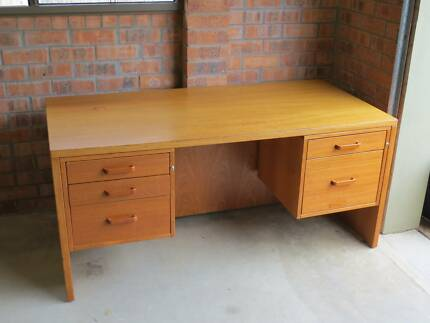 Desk, quality modern Danish teak