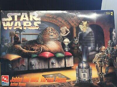 Vintage AMT Star Wars Jabba The Hutt Throne Room Model Kit 8262