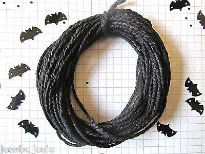 10/20mt of 2mm Thick Black Cotton Solid Colour Bakers Twine  Hallowe'en